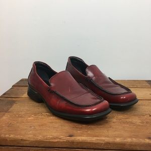 VTG Coach Cristol Red Leather Slip On Loafers 7.5B
